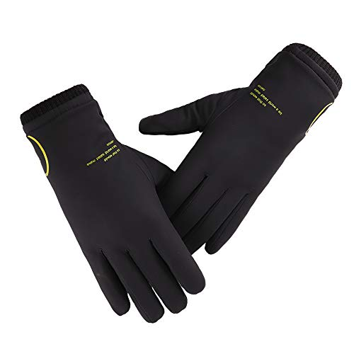Brife Touchscreen Handschuhe Herren Damen Winter Warme Strickhandschuhe Superweiche Wolle Plus Samt,Winddichte Fahrhandschuhe für den Außenbereich zum Telefonieren,Surfen, Spielen (black)