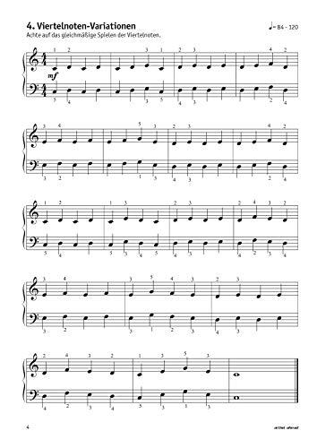 Meine ersten Fingerübungen! 46 Übungen für Klavier, Keyboard & Orgel – für Kinder ab 8 Jahren & Erwachsene. Fingertraining. Lehrbuch für Piano. Musiknoten. - 8