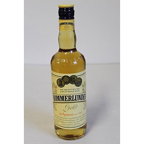Bommerlunder Gold Aquavit mit Jubiläums-Fassreife 38% Vol. 0,7 l
