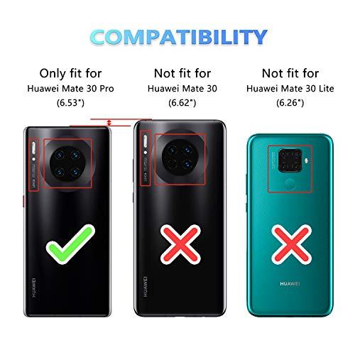 ykooe Handyhülle für Huawei Mate 30 Pro Hülle, Schwarz PU Leder Schutzhülle für Huawei Mate 30 Pro Flip Case Tasche - 3