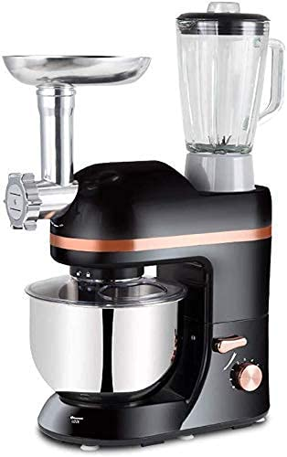 MOSHUO Batidora de Mano con Base Batidora de Huevos automática para el hogar, Batidora Multifuncional con Base Inclinable Acero Inoxidable 5L Máquina para Chef Amasadora, Picadora de Carne, Li