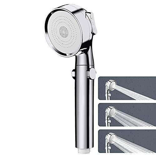 Ekoch Alcachofa de ducha de alta presión, ducha universal con ahorro de energía, 3 modos de hidromasaje, cabezal de ducha de acero inoxidable para baño