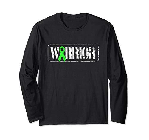 Non Hodgkins Lymphoma Warrior - Green Military Style Ribbon Long Sleeve T-Shirt