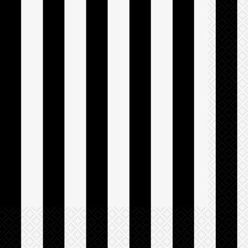 Lot de 16 serviettes en papier Motif – Noir