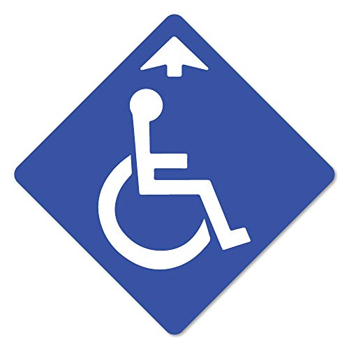 Coronavirus Handicapped Sign Arrow Non-Slip Floor Graphic 7' Vinyl Decal Protect Your Business, Work Place & Customers  Made in The USA