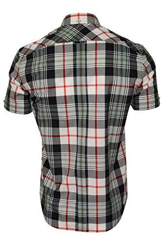 Ben Sherman Mens Checked Shirts (Small, Dark Navy)