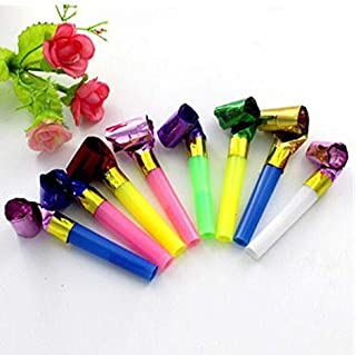 BAIVYLE Party Blower,100 Pcs Multicolor Musical Blowouts, Birthday Party Favors, New Years Party Noisemakers ,Party Blowouts Whistles, Party Blowouts, Fun Party Favors