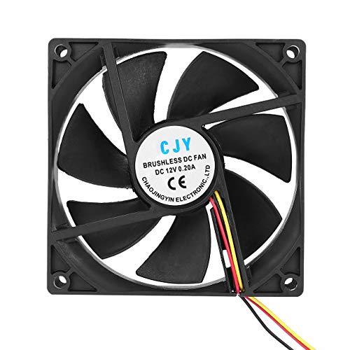 Ba30DEllylelly 12V 3 pines 9 cm 90 x 25 mm 90 mm CPU Disipadores de calor Ventilador enfriador Ventilador de enfriamiento DC 65 CFM R¨¢pido gratis