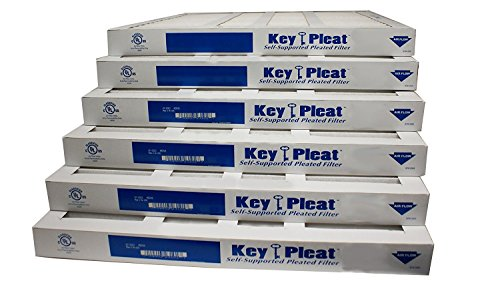 Assigned by Sterling Seal & Supply, (STCC) KP-12x24x1x6.AZ.DSC Furnace Air Filter, 12x24x1 Purolator Key Pleat Extended Surface Pleated Air Filter, Mechanical MERV 8 (Pack of 6)