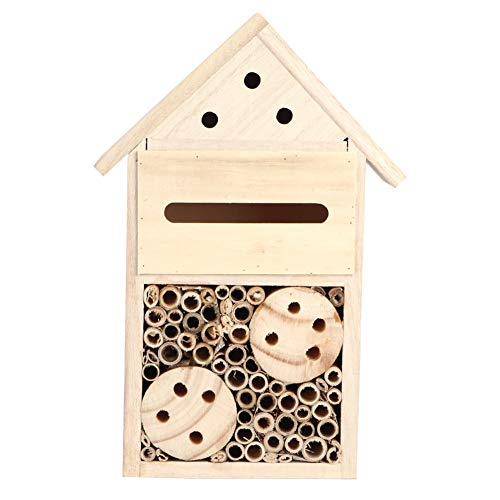 Wooden Insect House Mason Bee House for Butterfly Bees and Ladybug Enhance Your Garden Productivity