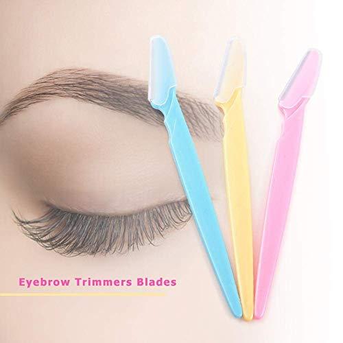 XAMILE 3pcs Eyebrow Trimmer Women Face Razor Leg Body Epilator Brow Knife Facial Remover Shaver Makeup Facial Hair Removal Blades Kit