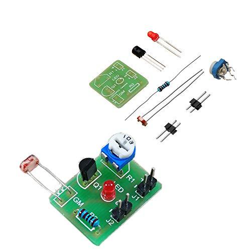 ILS - 3 pezzi Interruttore fai da te fotosensibile induzione elettronico corredo modulo controllo ottico fai da te formazione produzione