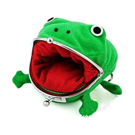 Wen XinRong Cute Frog Coin Purse Frog Wallet Cosplay Anime Plush Toy Frog Change Pouch Funny Gifts for Kids
