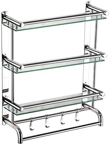 PRIDE S Estante de Toalla de baño Plataforma de baño Estante de Toalla de Acero Inoxidable de cosméticos de Almacenamiento de Pared (Size : 50cm)