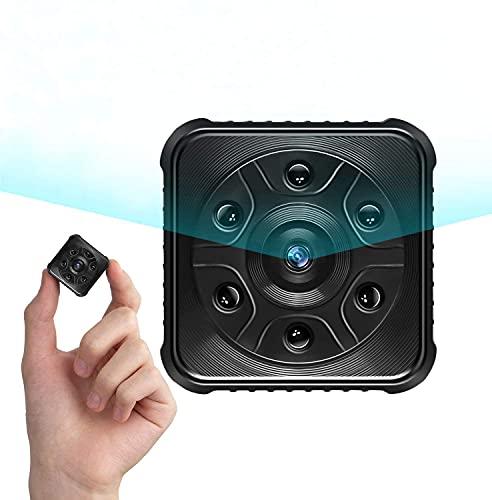 Cámaras espía, 1080P HD Cámaras de vigilancia, Mini WiFi Cámara Oculta con Detector de Movimiento y IR Visión Nocturna