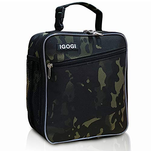 Insulated Lunch Box for Men, Women, Compact Adult Lunch Pail Work Office Cooler, Soft, Leakproof, Fashion. Suit to men, women,work,office,beach (Camo Green)