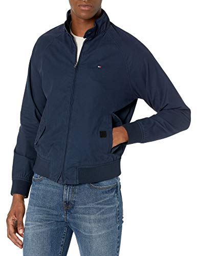 Tommy Hilfiger Herren Adaptive Bomber Jacket with Magnetic Zipper Jacke, Marineblau Blazer, X-Groß
