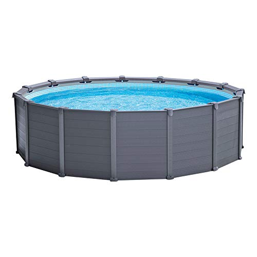 Intex Piscina Desmontable, 500 litros, Graphite Grey, 478 x 124 cm, 26384NP
