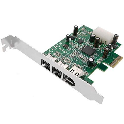 CERRXIAN 3 puertos IEEE 1394 tarjeta Firewire PCI Firewire adaptador IEEE 1394 PCI tarjeta controladora para PC de escritorio