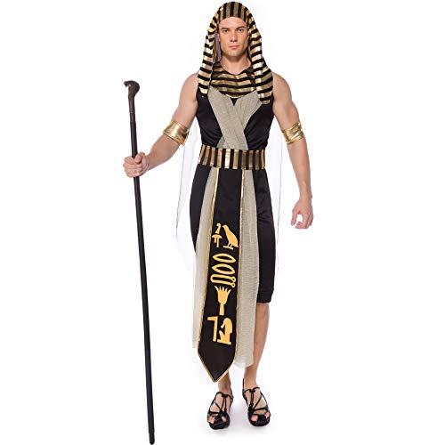 Disfraz de diosa griega y prncipe masculino para adultos, para el Da de los Muertos, disfraz de Halloween (Masculino, XL)