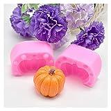 シリコンモールド 3Dバラの花のシリコーンの石鹸金型チョコレート型DIYの手作りケーキチョコレートキャンディーベーキングモールド型ハンドメイドクラフト (Color : 3D Pumpkin)