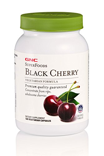 GNC SuperFoods Black Cherry, 120 Capsules, Natural Source of Iodine
