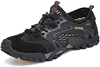 SITAILE Water Shoes Men Women Quick Dry Barefoot Aqua Swim River Shoes for Pool Beach Hiking Walking Shoes Black Size 11 Women/8.5 Men