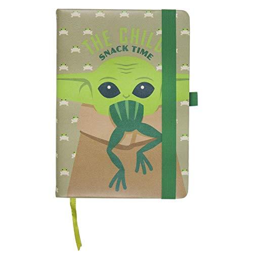 Cerdá Life's Little Moments Notizbuch A5 Baby Yoda The Child-Lizenz, Star Wars, Kinder, Mehrfarbig, Standard