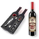 Wine Bottle Tools Gift Set,Wine Bottle Accessory Kit Corkscrew Opener, Stopper, Pourer, for Wine Lovers, Friends, Christmas, Anniversary