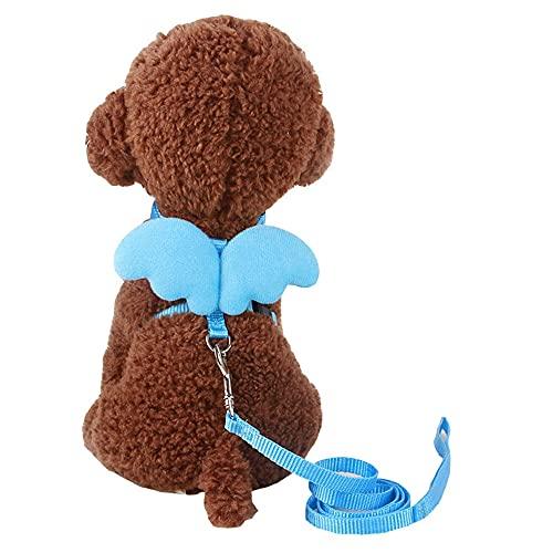 10 colores de mascota pequeño perro cordón correa de nylon hermosa ala ángel cachorro plomo gato conejo chihuahua pug XS SkyBlue escape arnés