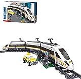 ZJLA Bloques de construcción Zug City tren de alta velocidad modelo 641 Bloques de construcción de abrazadera Compatible con tecnología Lego, sin rieles