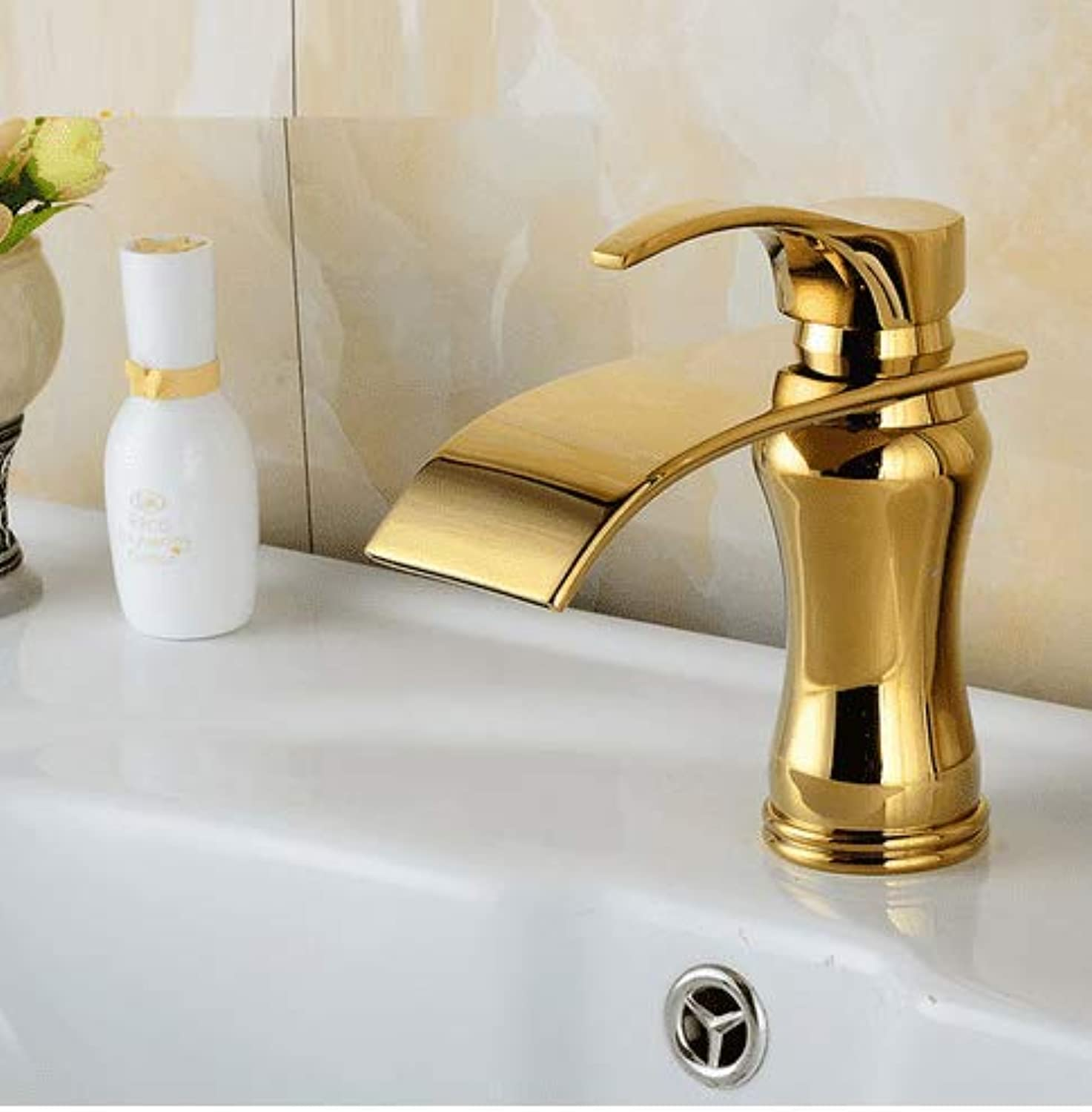 Bathroom Sink Faucet Basin Mixer Tap Classic Single Hole Kitchen Sink Faucet Antique Brass Hot &Cold Basin Mixer Tap