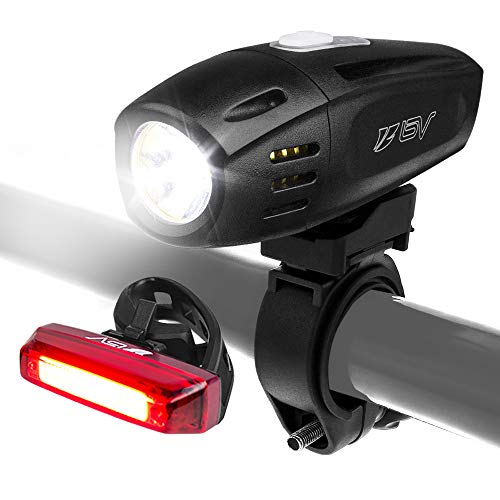 BV Super Bright (300 Lumens) Rechargeable Bike Light Set