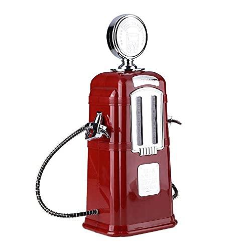1000cc Pistolas Dobles Bomba de Licor Gasolinera Dispensador de Cerveza Alc-ohol Líquido Refresco Dispensador de Bebidas Máquina Bar Butler Tools(Rosso)