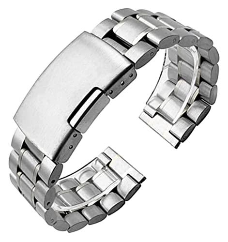 WSYGHP Correa de Acero Inoxidable 14 mm 16 mm 18 mm 19 mm 20 mm 21 mm 22 mm 24 mm 26 mm Metal Reloj de Reloj de Metal Pulsera Reloj de Reloj Correa de Reloj Correas de Reloj Reloj de Oro