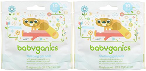 Babyganics Benzocaine Free Gel Teething Pods - .3 ml - 10 ct - 2 pk