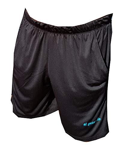 El Gusanillo - Short de pádel o Tenis Unaza Negro-Turquesa