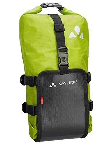 VAUDE Trailmulti, Gabeltasche für Bikepacking Sporttasche, 30 cm, 5 Liter, Black/Green