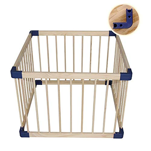 Review Z-SEAT Wooden Baby Playpen, Activity Center for Kids, Small 4-Panel Safety Play Yard for Home...