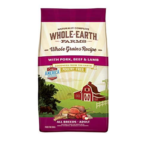 Whole Earth Farms Natural Dry Dog Food with Helathy Grains Pork, Beef & Lamb - 25.0 lb Bag