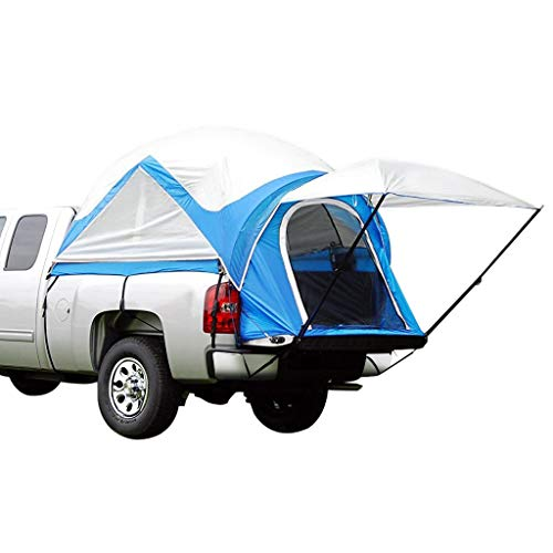 Peaktop Outdoor Upgraded 2019 Truck Tents for Mid Size Truck Bed Tent Inner&Outer 2 in 1 (Blue)
