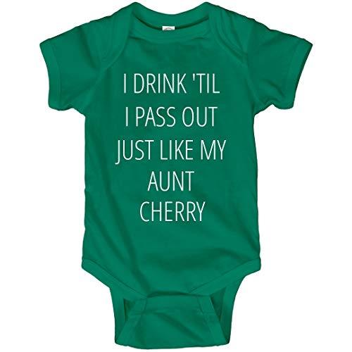 FunnyShirts.org Baby Drinks Like Aunt Cherry: Infant Bodysuit