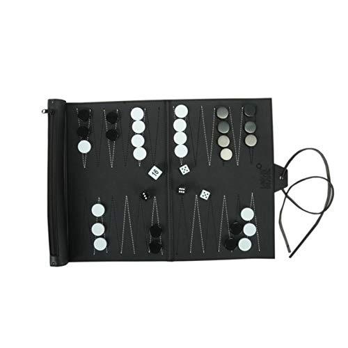 Erfula Travel Backgammon Set -Leather Chessboard PU Chess Board Portable -Genuine Leather Backgammon -Backgammon Board beautiful magnificent