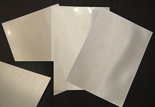Madaboutink Metallic-Folie, 100 Mikron, gebürstetes Silber-Finish, 10 x A4 Bögen