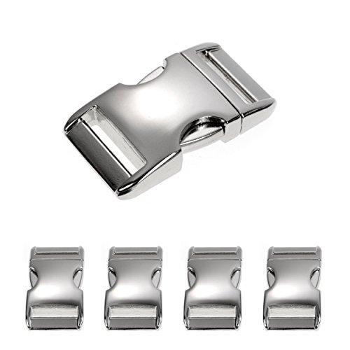 Metall-Klickverschluss Alumaxx, Set aus 4 Stück, 3/4