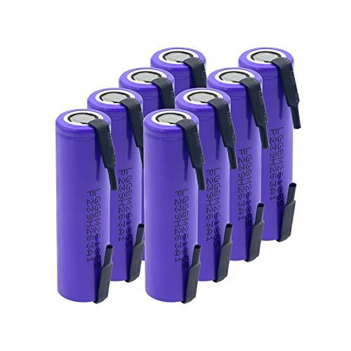 MGLQSB Batería De Litio Li-Ion De 3.7v 2600mah, Alto Drenaje 10a De La Batería Recargable 18650 M26 para La Linterna Aspictureshows
