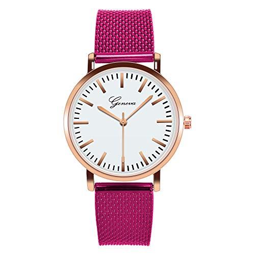 HZLY Reloj para Mujer Reloj Ultrafino de Ginebra, Color PVC, Malla de...