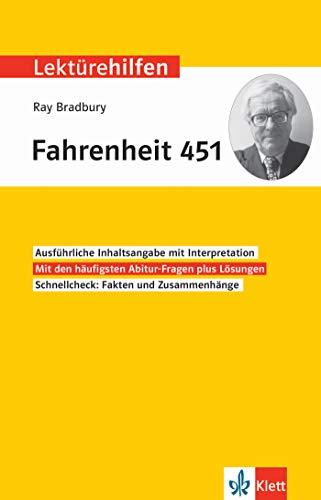 Klett Lektürehilfen Ray Bradbury, Fahrenheit 451: Interpretationshilfe für Oberstufe und Abitur in englischer Sprache