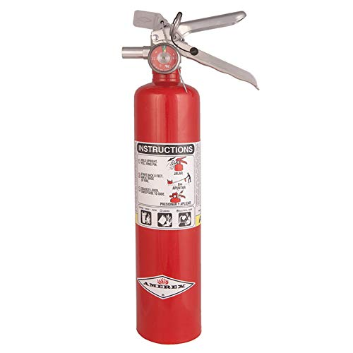 Amerex B417T, 2.5 Pound ABC Dry Chemical Class A B C Multi-Purpose 2.5 Pound Fire Extinguisher with Wall Bracket