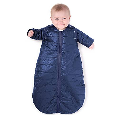 baby deedee Sleep Nest Travel Quilted Baby Sleeping Bag Sack with Sleeves, Indigo, Medium (6-18 Month), T286